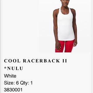 Lululemon Cool Racerback II